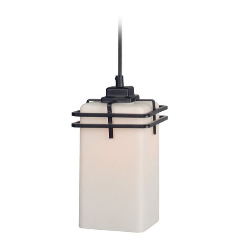 Lite Source Lighting Lite Source Delores Dark Bronze Mini-Pendant Light with Rectangle Shade LS-19382