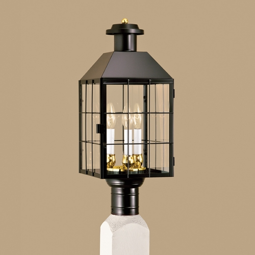Norwell Lighting Norwell Lighting American Heritage Black Post Light 1056-BL-CL
