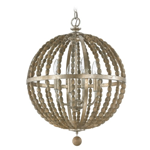 Capital Lighting Capital Lighting Lowell Tuscan Bronze with Wood Beads Pendant Light 4794TZ