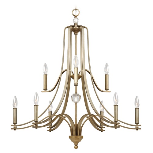 Feiss Lighting Feiss Lighting Evington Sunset Gold Chandelier F3076/9SG