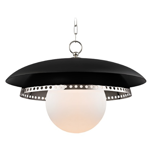 Hudson Valley Lighting Hudson Valley Lighting Herikimer Polished Nickel Pendant Light with Globe Shade 3325-PN