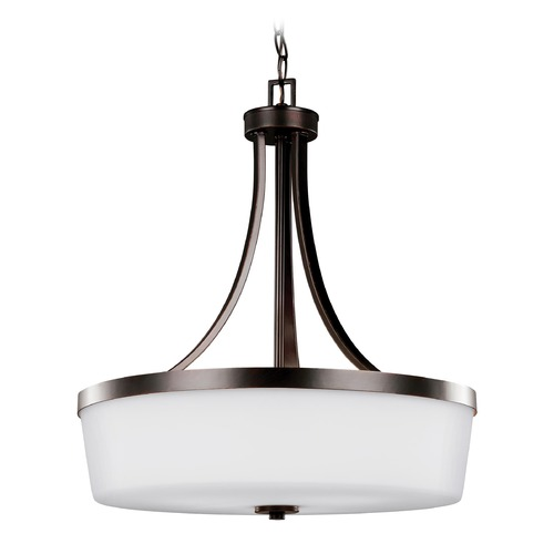 Sea Gull Lighting Sea Gull Lighting Hettinger Burnt Sienna Pendant Light with Drum Shade 6639103-710