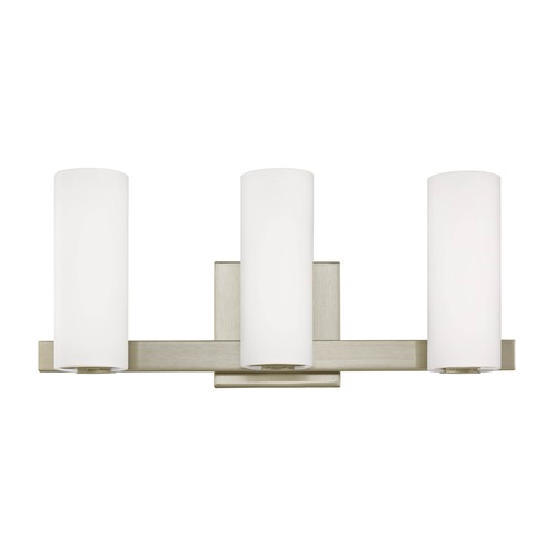Dolan Designs Lighting Modern LED Bath Vanity Light with 3 Lights in Satin Nickel 3293-09