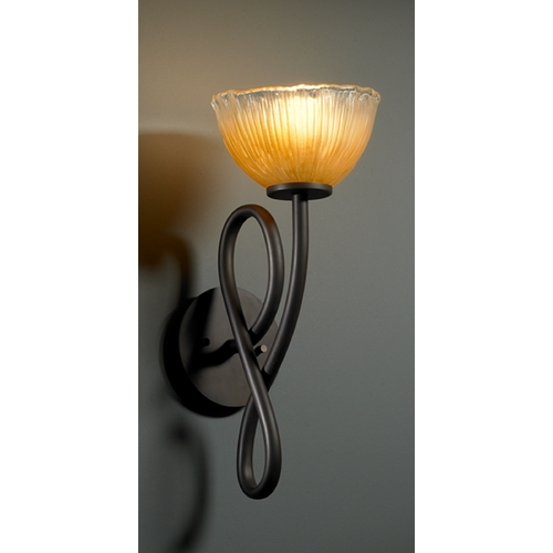 Justice Design Group Justice Design Group Veneto Luce Collection Sconce GLA-8911-36-GLDC-DBRZ