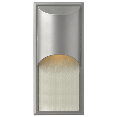 Hinkley Lighting Modern Outdoor Wall Light in Titanium Finish 1834TT-GU24