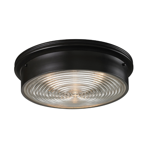 Elk Lighting Modern Flushmount Light in Oiled Bronze Finish 11453/3