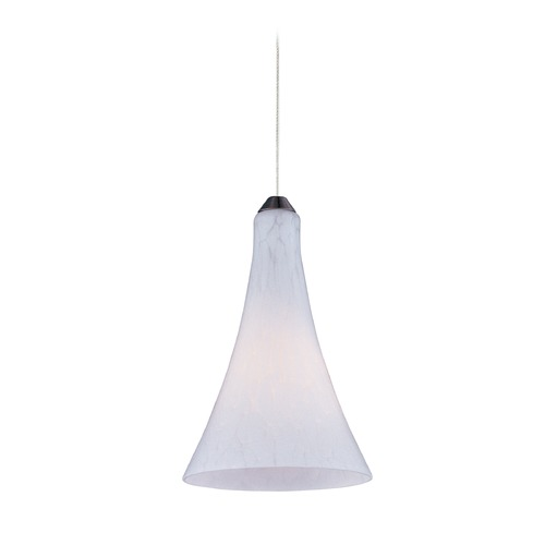 ET2 Lighting Minx Satin Nickel Mini-Pendant Light with Bell Shade E94332-105SN