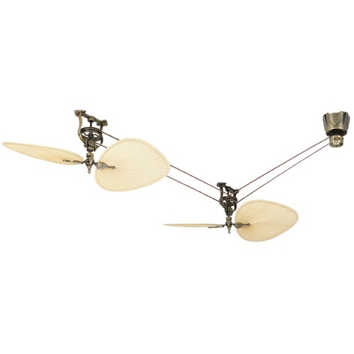 Fanimation Fans Fanimation Fans Brewmaster Antique Brass Ceiling Fan Without Light FP1280AB-P1-S2