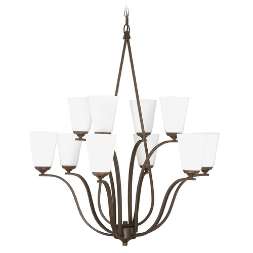 Capital Lighting Capital Lighting Braxton Burnished Bronze Chandelier 4959BB-122