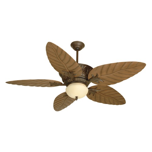 Craftmade Lighting Craftmade Lighting Pavilion Aged Bronze Textured Ceiling Fan with Light K10241