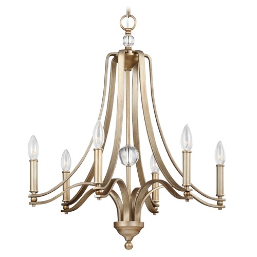 Feiss Lighting Feiss Lighting Evington Sunset Gold Chandelier F3075/6SG