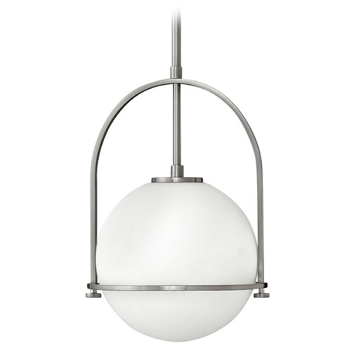 Hinkley Hinkley Somerset Brushed Nickel Pendant Light with Globe Shade 3407BN