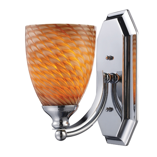 Elk Lighting Sconce with Art Glass in Polished Chrome Finish 570-1C-C