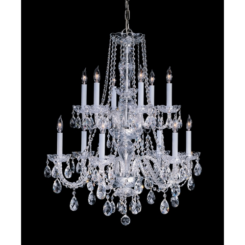 Crystorama Lighting Crystal Chandelier in Polished Brass Finish 1137-PB-CL-MWP