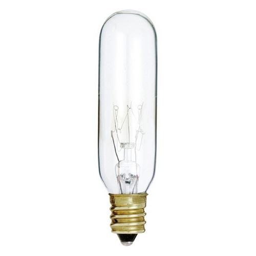 Clear 15 Watt T6 Candelabra Incandescent Light Bulb