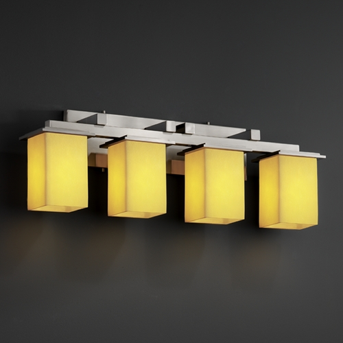 Justice Design Group Justice Design Group Candlearia Collection Bathroom Light CNDL-8674-15-AMBR-NCKL
