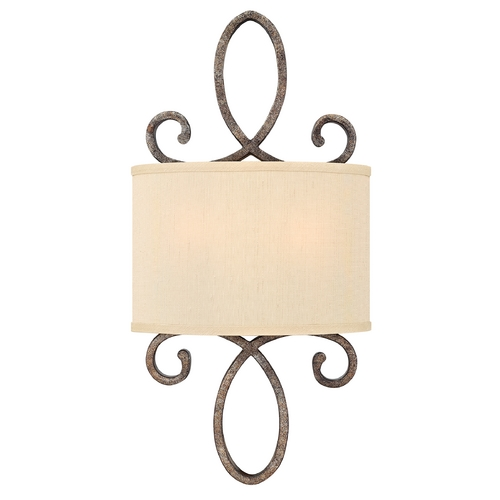 Frederick Ramond Sconce Wall Light with Gold Shade in Brushed Merlot Finish FR42500BME