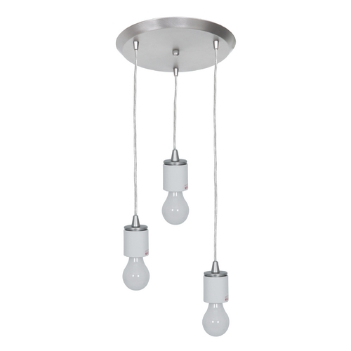 Access Lighting Access Lighting Circ Brushed Steel Multi-Light Pendant 52230FC-BS