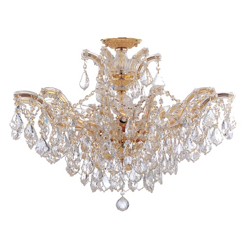 Crystorama Lighting Crystorama Lighting Maria Theresa Gold Semi-Flushmount Light 4439-GD-CL-S_CEILING