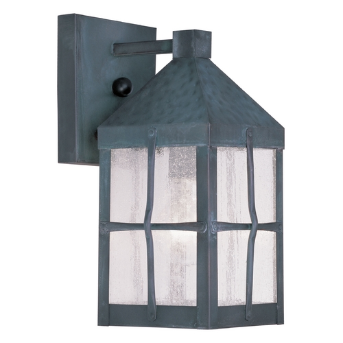 Livex Lighting Livex Lighting Brighton Hammered Charcoal Outdoor Wall Light 2680-61