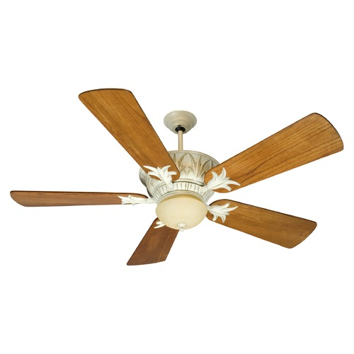 Craftmade Lighting Craftmade Lighting Pavilion Antique White Distressed Ceiling Fan with Light K10247