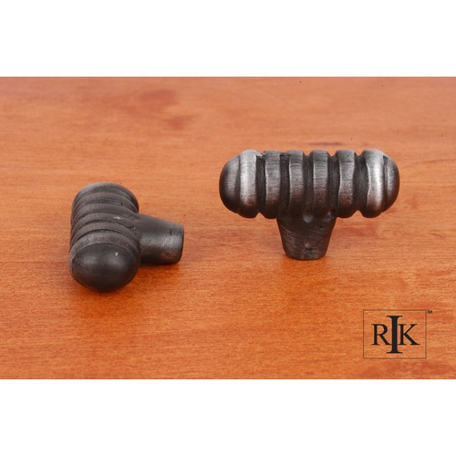 RK International Distressed Large Ribbed Knob CK713DN