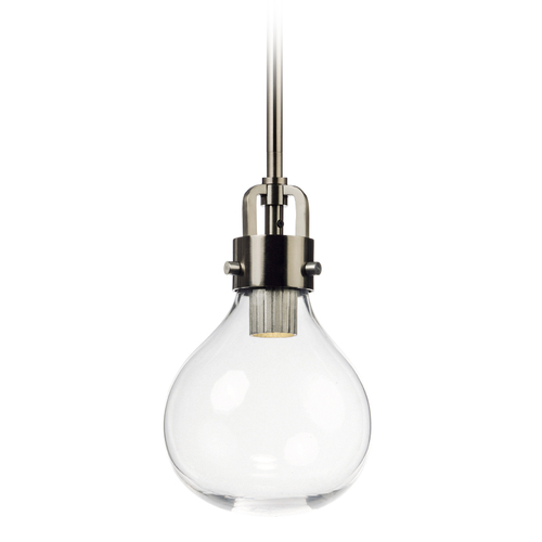 Maxim Lighting Mid-Century Modern LED Mini-Pendant Light Dark Satin Nickel Kinetic LED by Maxim Lighting 39691CLDSN