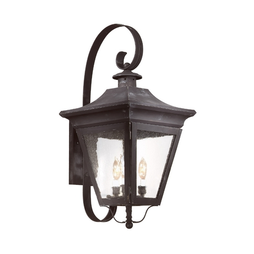 Troy Lighting Outdoor Wall Light with Clear Glass in Natural Rust Finish B8933NR