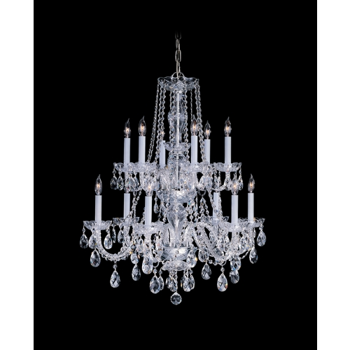 Crystorama Lighting Crystal Chandelier in Polished Brass Finish 1137-PB-CL-S