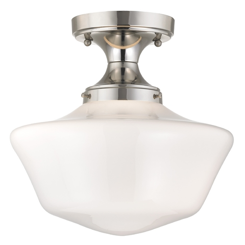 Design Classics Lighting 12-Inch Wide Retro Style Schoolhouse Ceiling Light FDS-15 / GA12