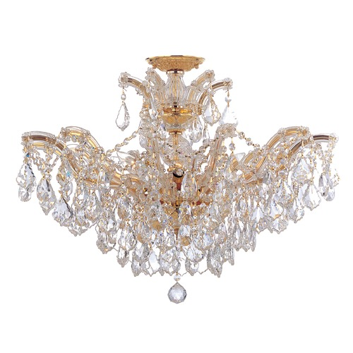 Crystorama Lighting Crystorama Lighting Maria Theresa Gold Semi-Flushmount Light 4439-GD-CL-SAQ_CEILING