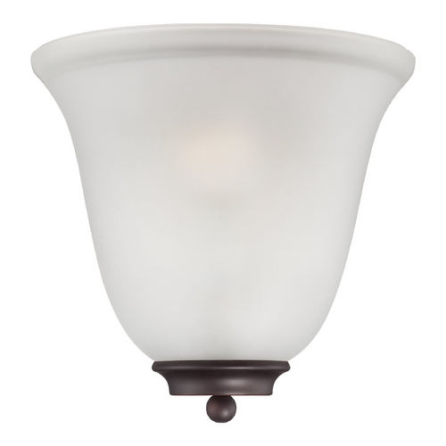 Nuvo Lighting Sconce Wall Light with White Glass in Mohogany Bronze Finish 60/5375