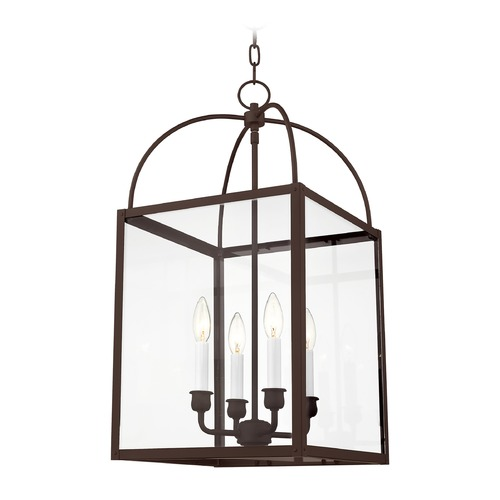 Livex Lighting Livex Lighting Milford Bronze Pendant Light with Square Shade 4042-07