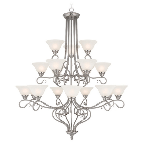 Livex Lighting Livex Lighting Coronado Brushed Nickel Chandelier 6139-91