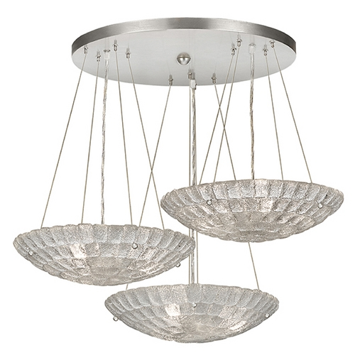 Fine Art Lamps Fine Art Lamps Constructivism Hand-Applied Silver Pendant Light 848240ST