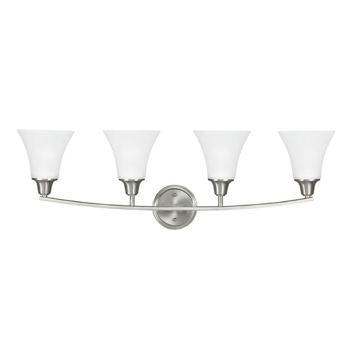 Sea Gull Lighting Sea Gull Lighting Metcalf Brushed Nickel Bathroom Light 4413204-962