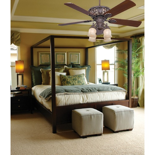 Savoy House Savoy House Walnut Patina Ceiling Fan with Light 52-810-5WA-40