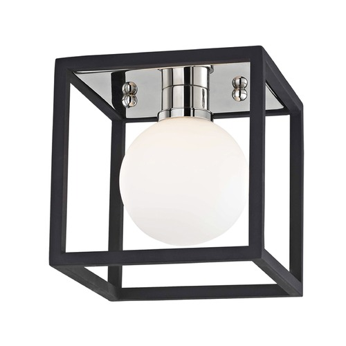 Hudson Valley Lighting Mid-Century Modern Polished Nickel / Black Mitzi Aira by Hudson Valley H141301-PN/BK