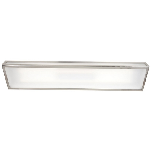 Access Lighting Modern Flushmount Light with White Glass in Brushed Steel Finish 31026-BS/FST