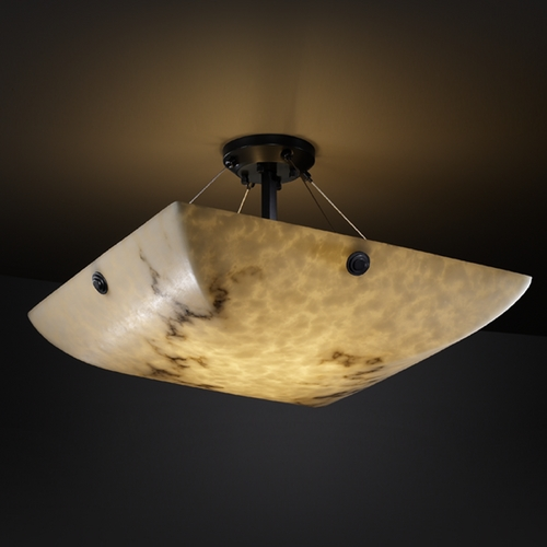 Justice Design Group Justice Design Group Lumenaria Collection Semi-Flushmount Light FAL-9651-25-MBLK-F6
