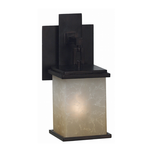 Kenroy Home Lighting Modern Sconce Wall Light with Amber Glass in Oil Rubbed Bronze Finish 03372