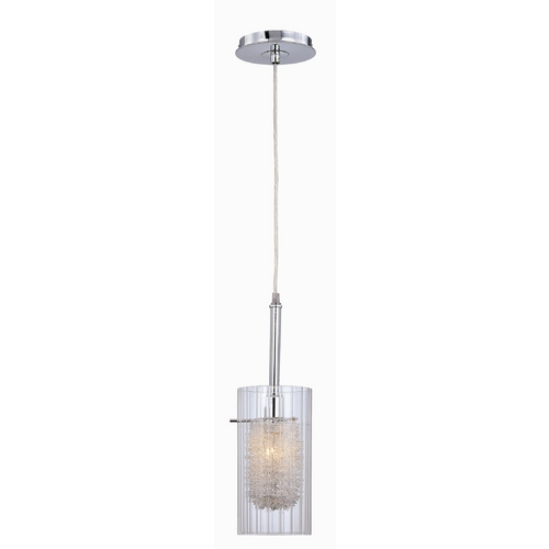 Lite Source Lighting Mini-Pendant with Decorative Interior LS-19377