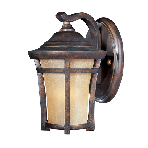 Maxim Lighting Outdoor Wall Light Golden Frost Glass - 9-1/2-Inches Tall 40162GFCO