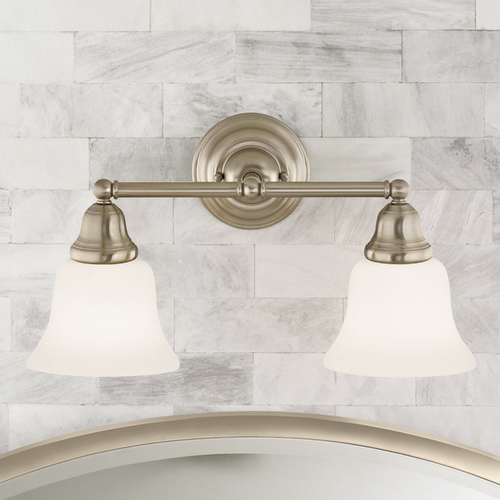 Design Classics Lighting Transitional 2-Light Bathroom Light Satin Nickel 772-09 G9110 KIT