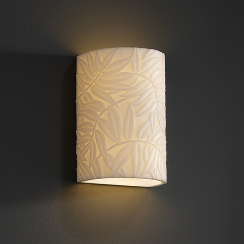 Justice Design Group Justice Design Group Porcelina Collection Outdoor Wall Light PNA-0945W-BMBO