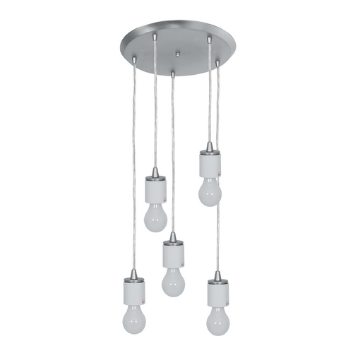 Access Lighting Access Lighting Circ Brushed Steel Multi-Light Pendant 52232FC-BS
