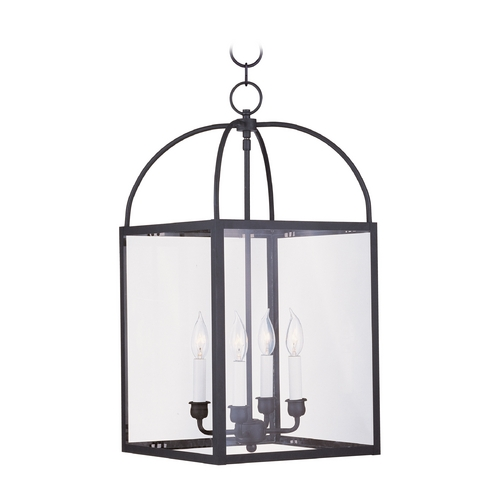 Livex Lighting Livex Lighting Milford Black Pendant Light with Square Shade 4042-04