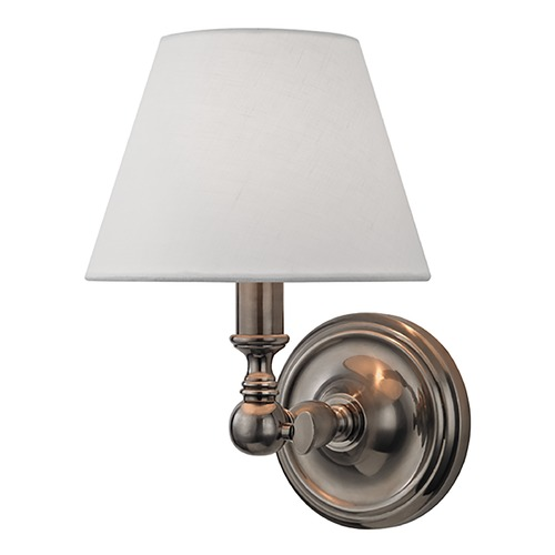 Hudson Valley Lighting Sidney 1 Light Sconce - Historic Nickel 3221-HN