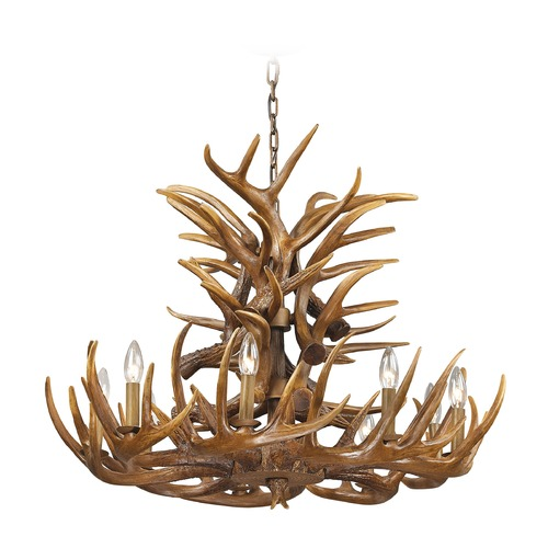 Elk Lighting Elk Lighting Elk Wood Brown Chandelier 16316/9