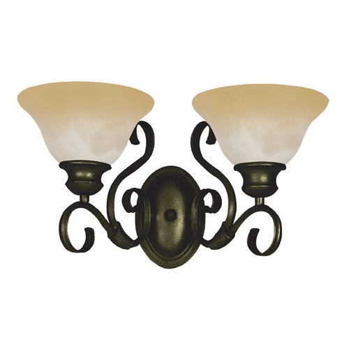 Maxim Lighting Bathroom Light with Beige / Cream Glass in Kentucky Bronze Finish 8020WSKB